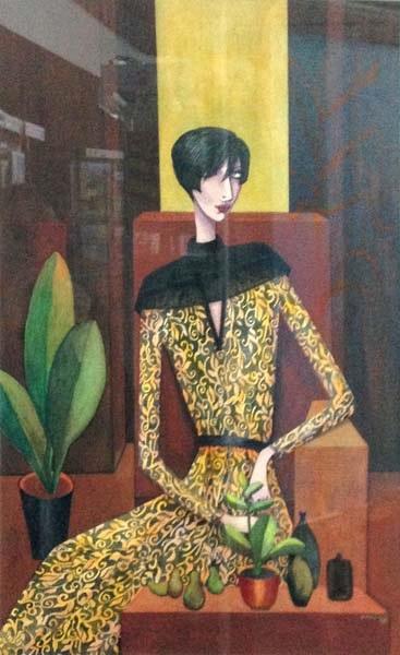Valli Palmgren, Lady in Chair, Watercolour.jpg