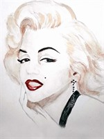 Trish Loader, Marilyn Monroe Watercolour (2).jpg
