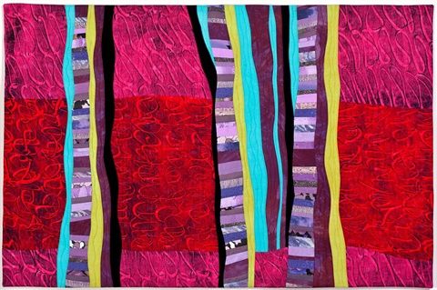Ruth Galpin, Improvisation, Red hand printed cottons.jpg